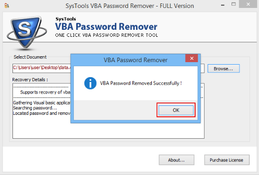 Download Remove VBA Password 4.8.32 Latest Version